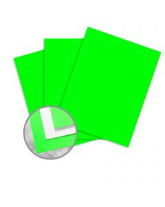 kaBoom! Lime Paper - 8 1/2 x 11 in 10 pt Cover Smooth C/1S 200 per Package