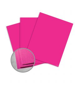 Astrobrights Fireball Fuchsia Card Stock - 11 x 17 in 65 lb Cover Smooth 250 per Package