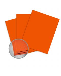 Astrobrights Orbit Orange Card Stock - 8 1/2 x 11 in 65 lb Cover Smooth  30% Recycled 250 per Package