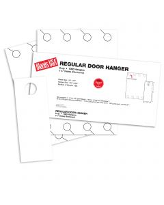 Blanks USA White Regular Door Hangers - 13 x 17 in 67 lb Bristol 125 per Package