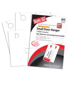 Blanks USA Birch White Small Door Hangers - 11 x 8 1/2 in 65 lb Cover  Pre-Cut 334 per Package