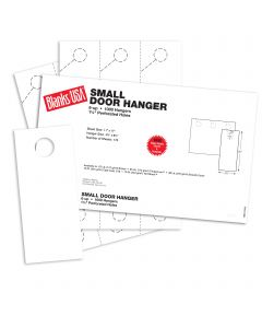 Blanks USA White Small Door Hangers - 11 x 17 in 67 lb Bristol 167 per Package