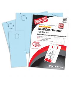 Blanks USA Blue Small Door Hangers - 11 x 8 1/2 in 67 lb Bristol  Pre-Cut 50 per Package