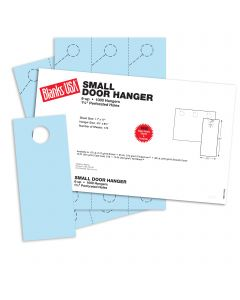 Blanks USA Blue Small Door Hangers - 11 x 17 in 67 lb Bristol 167 per Package
