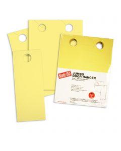 Blanks USA Canary Yellow Jumbo Door Hangers - 8 1/2 x 11 in 67 lb Bristol 250 per Package