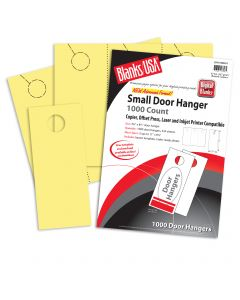 Blanks USA Canary Small Door Hangers - 11 x 8 1/2 in 67 lb Bristol  Pre-Cut 334 per Package