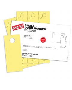 Blanks USA Canary Small Door Hangers - 11 x 17 in 67 lb Bristol 167 per Package