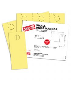 Blanks USA Canary Small Door Hangers - 11 x 8 1/2 in 67 lb Bristol 334 per Package