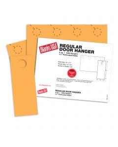 Blanks USA Flame Orange Regular Door Hangers - 13 x 8 1/2 in 10 pt Cover 250 per Package