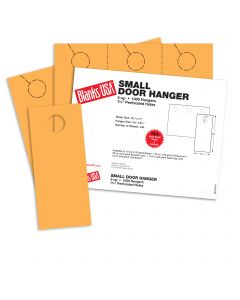 Blanks USA Flame Orange Small Door Hangers - 11 x 8 1/2 in 10 pt Cover 334 per Package