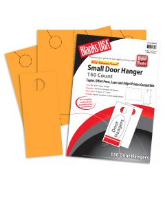 Blanks USA Gold Small Door Hangers - 11 x 8 1/2 in 67 lb Bristol  Pre-Cut 50 per Package