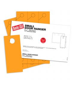 Blanks USA Gold Small Door Hangers - 11 x 17 in 67 lb Bristol 167 per Package