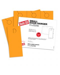 Blanks USA Gold Small Door Hangers - 11 x 8 1/2 in 67 lb Bristol 334 per Package