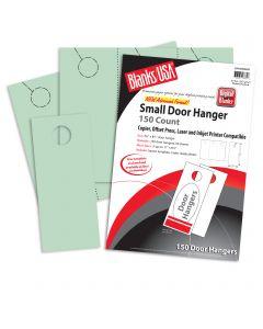 Blanks USA Green Small Door Hangers - 11 x 8 1/2 in 67 lb Bristol  Pre-Cut 50 per Package