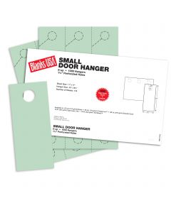 Blanks USA Green Small Door Hangers - 11 x 17 in 67 lb Bristol 167 per Package