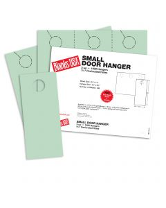 Blanks USA Green Small Door Hangers - 11 x 8 1/2 in 67 lb Bristol 334 per Package