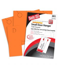 Blanks USA Hunters Orange Small Door Hangers - 11 x 8 1/2 in 65 lb Cover  Pre-Cut 50 per Package