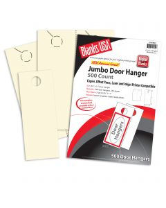 Blanks USA White Jumbo Door Hangers - 8 1/2 x 11 in 67 lb Bristol  Pre-Cut 250 per Package