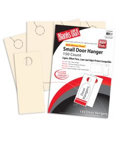 Blanks USA Ivory Small Door Hangers - 11 x 8 1/2 in 67 lb Bristol  Pre-Cut 50 per Package