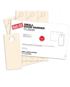 Blanks USA Ivory Small Door Hangers - 11 x 17 in 67 lb Bristol 167 per Package