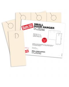 Blanks USA Ivory Small Door Hangers - 11 x 8 1/2 in 67 lb Bristol 334 per Package