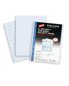 Security Sheets - Kant Kopy Void Security Sheets 60 lb Offset Uncoated Blue 8.5 x 11 Sheets 250 per Package