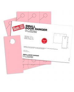Blanks USA Pink Small Door Hangers - 11 x 17 in 67 lb Bristol 167 per Package