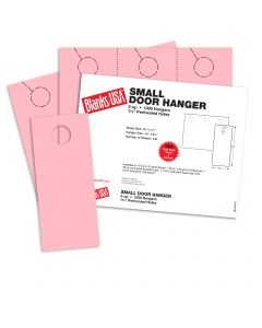 Blanks USA Pink Small Door Hangers - 11 x 8 1/2 in 67 lb Bristol 334 per Package