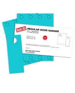 Blanks USA Robin Egg Blue Regular Door Hangers - 13 x 17 in 65 lb Cover 125 per Package