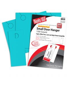 Blanks USA Robin Egg Blue Small Door Hangers - 11 x 8 1/2 in 65 lb Cover  Pre-Cut 50 per Package