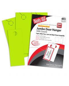 Blanks USA Spring Green Jumbo Door Hangers - 8 1/2 x 11 in 65 lb Cover  Pre-Cut 500 per Package