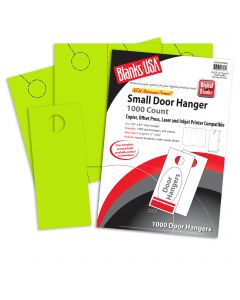 Blanks USA Spring Green Small Door Hangers - 11 x 8 1/2 in 65 lb Cover  Pre-Cut 334 per Package