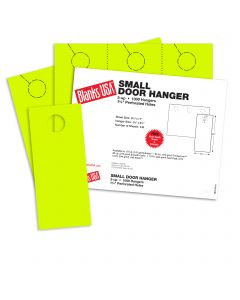 Blanks USA Sulphur Yellow Small Door Hangers - 11 x 8 1/2 in 10 pt Cover 334 per Package