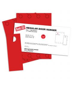 Blanks USA Sumac Red Regular Door Hangers - 13 x 17 in 65 lb Cover 30% Recycled 125 per Package