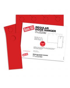 Blanks USA Sumac Red Regular Door Hangers - 13 x 8 1/2 in 65 lb Cover 30% Recycled 250 per Package
