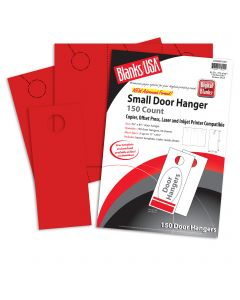 Blanks USA Sumac Red Small Door Hangers - 11 x 8 1/2 in 65 lb Cover 30% Recycled Pre-Cut 50 per Package