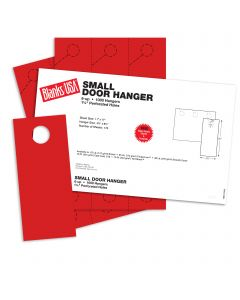 Blanks USA Sumac Red Small Door Hangers - 11 x 17 in 65 lb Cover 30% Recycled 167 per Package