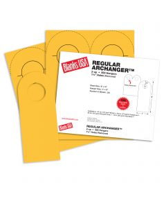 Blanks USA Sunfish Yellow Regular Arc Door Hangers - 8 x 10 in 65 lb Cover 250 per Package