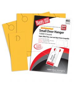 Blanks USA Sunfish Yellow Small Door Hangers - 11 x 8 1/2 in 65 lb Cover  Pre-Cut 334 per Package