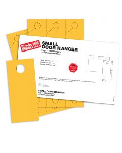 Blanks USA Sunfish Yellow Small Door Hangers - 11 x 17 in 65 lb Cover 167 per Package