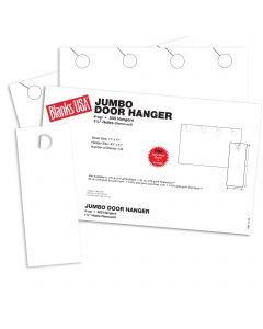Blanks USA White Jumbo Door Hangers - 17 x 11 in 80 lb Cover Smooth 125 per Package