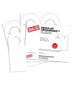 Blanks USA White Regular Arc Door Hangers - 8 x 10 in 67 lb Bristol 250 per Package