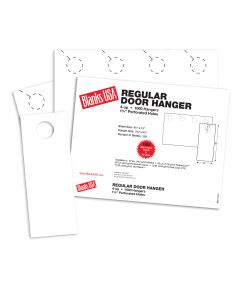 Blanks USA White Regular Door Hangers - 13 x 8 1/2 in 80 lb Cover Smooth 250 per Package