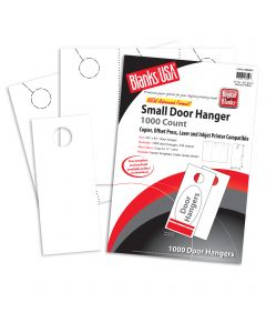 Blanks USA White Small Door Hangers - 11 x 8 1/2 in 67 lb Bristol  Pre-Cut 334 per Package