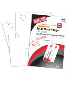 Blanks USA White Small Door Hangers - 11 x 8 1/2 in 67 lb Bristol  Pre-Cut 50 per Package