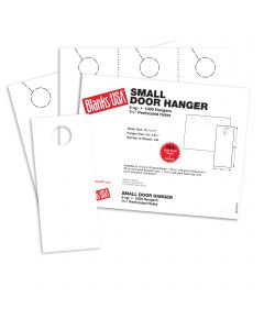 Blanks USA White Small Door Hangers - 11 x 8 1/2 in 67 lb Bristol 334 per Package