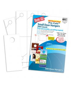 Blanks USA White Small Door Hangers - 11 x 17 in 80 lb Cover Smooth Pre-Cut 50 per Package