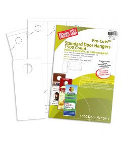 Blanks USA White Standard Door Hangers - 12 x 18 in 65 lb Cover  Pre-Cut 250 per Package