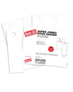 Blanks USA White Super Jumbo Door Hangers - 8 1/2 x 13 in 80 lb Cover Smooth 250 per Package