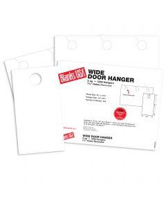 Blanks USA White Wide Door Hangers - 13 7/8 x 8 1/2 in 67 lb Bristol 334 per Package